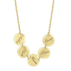 Personalized Disk Family Necklace