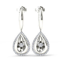 Love in Motion 1/3 CT. T.W. White Diamond Drop Earrings