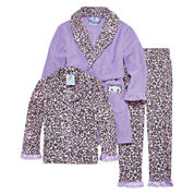 Girls Pajamas + Robe Set-Big Kid