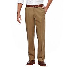 Haggar® Premium No Iron Classic-Fit Flat-Front Khakis