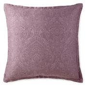 Royal Velvet Paisley Print Euro Pillow