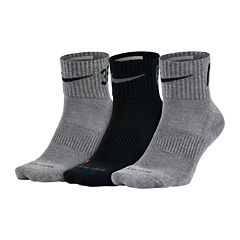 Nike® 3-pk. Dri-FIT Fly-Rise Quarter Socks - Big & Tall
