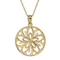 Infinite Gold™ 14K Yellow Gold Filigree Flower Pendant Necklace