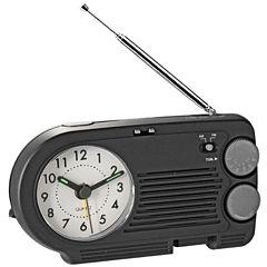 Natico AM/FM Radio with Analog Alarm Clock