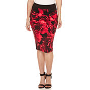 Bisou Bisou Zip Back Pencil Skirt