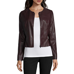Worthington Pleather Peplum Blazer