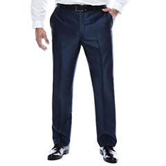 J.Ferrar Blue Luster Suit Pants-Big and Tall Fit