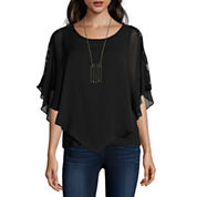 Alyx Short Sleeve Scoop Neck Blouse