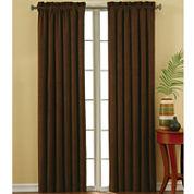 Eclipse® Faux-Suede Rod-Pocket Blackout Curtain Panel