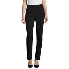 Worthington Slim Fit Ankle Pants-Misses Short