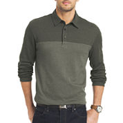 Van Heusen® Long-Sleeve Jaspe Blocked Polo