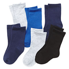 Okie Dokie® 6-pk. Socks - Baby Boys newborn-24m
