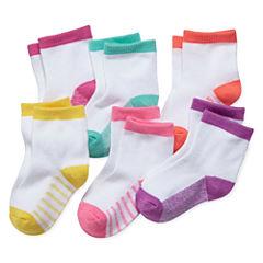 Okie Dokie® 6-pk. Socks - Baby Girls newborn-24m