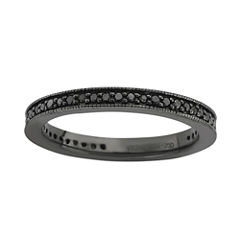 Personally Stackable Color-Enhanced Black Diamond Eternity Ring