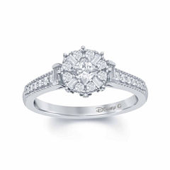 Enchanted by Disney 1/2 C.T. T.W. Diamond 10K White Gold