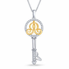 Enchanted by Disney 1/10 C.T. T.W. Diamond 14K Gold over Silver