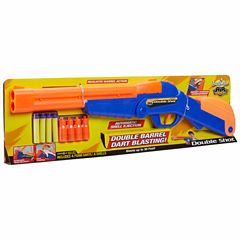 Buzz Bee Toys Air Warriors Over Under Double Shot Dart 8-pc. Toy Playset