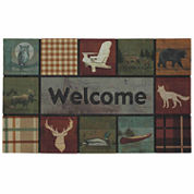 Mohawk Home® Lodge Squares Rectangular Doormat 18