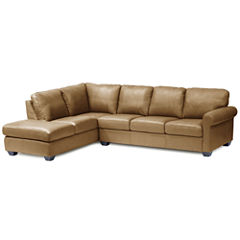 Leather Possibilities Roll-Arm 2-pc. Left-Arm Corner Sectional