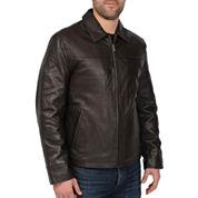 New Zealand Lambskin Leather Jacket–Big & Tall