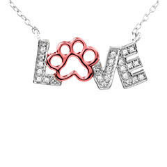 ASPCA® Tender Voices™ 1/10 CT. T.W. Diamond Animal Love Pendant Necklace