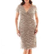 Scarlett Short-Sleeve Lace Dress - Plus