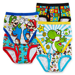 5-pk. Super Mario Brothers Briefs - Boys 4-8