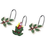Spode® Christmas Tree Shower Curtain Hooks