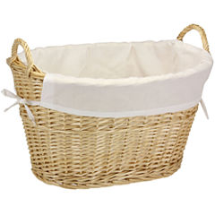 Household Essentials® Willow Laundry Basket with Cotton Liner