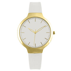 Womens White Strap Watch-Pt1606gdwt