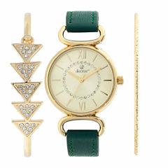 Decree Womens Gold Tone Watch Boxed Set-Dcr271ls