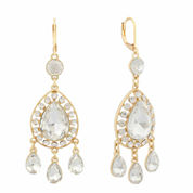 Monet Clear And Goldtone Chandelier Earring