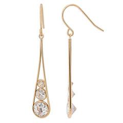 14K Gold Cubic Zirconia Drop Earrings