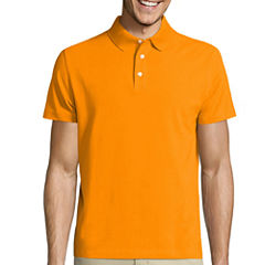 Claiborne Short Sleeve Solid Knit Polo Shirt