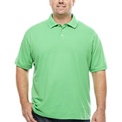 The Foundry Big & Tall Supply Co. Short Sleeve Solid Easy Care Polo- Big & Tall