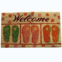 PVC Flip Flop Rectangular Doormat - 18