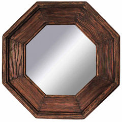 Rustic Natural Brown Octagonal Mirror