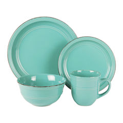 Jay Imports Madelyn Aqua 16-pc. Dinnerware Set