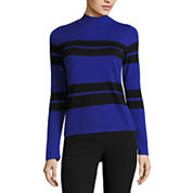 Worthington Long Sleeve Mock Neck Pullover Sweater