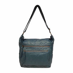 St. John's Bay Pearl Wash Zip Hobo Bag