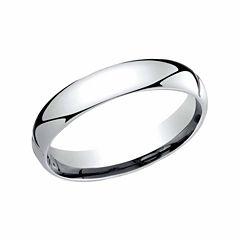Unisex Platinum Wedding Band