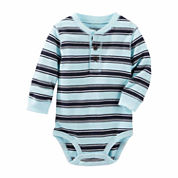 OshKosh Boy Blue Stripe Bodysuit 3-24M