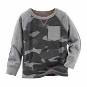 OshKosh Boy Heather Gray Camo Shirt 4-7