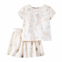 Carter's Girls Short Sleeve Skirt Set