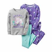 Carter's Girls Long Sleeve Kids Pajama Set-Baby