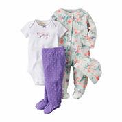 Carter's® 4-pc. White Floral Layette Set - Baby Girls newborn-24m