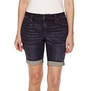 a.n.a Woven Bermuda Shorts Petites