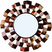 Art Deco-Inspired Round Wall Mirror