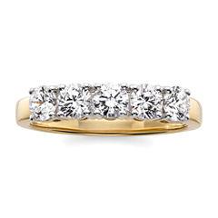 1 CT. T.W. Diamond 10K Yellow Gold 5-Stone Wedding Band