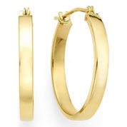 14K Yellow Gold 19.9mm Flat Hoop Earrings